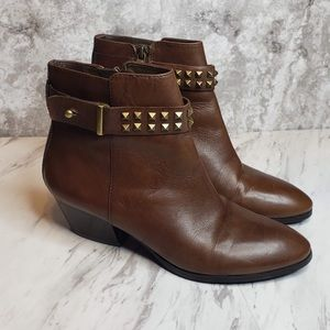 Franco Sarto L Quest Studded Western Ankle Boots 8